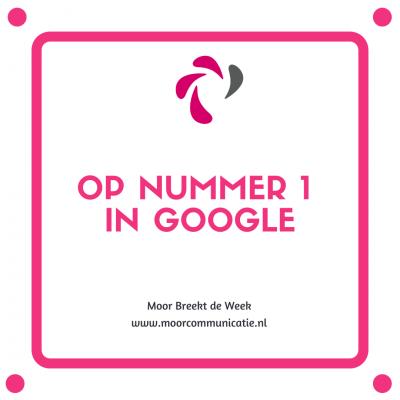Op nummer 1 in Google